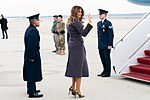 First Lady Melania Trump Departs Joint Base Andrews (33413637168).jpg