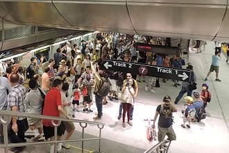 Hudson Yards (neighborhood), Manhattan - The new 34th Street subway station, September 2015