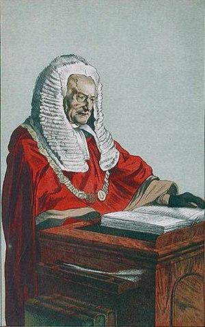 Fitzroy Kelly - Vanity Fair caricature, November 1871.