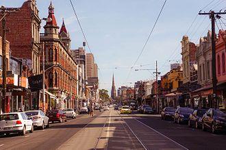 Brunswick Street, Melbourne - Brunswick Street as it runs through Fitzroy