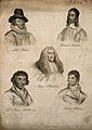 Five men; Robert Burns, Richard Baxter, Francis Bacon, Judge Wellcome V0006807.jpg