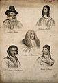 Five men; Robert Burns, Richard Baxter, Francis Bacon, Judge Wellcome V0006807.jpg