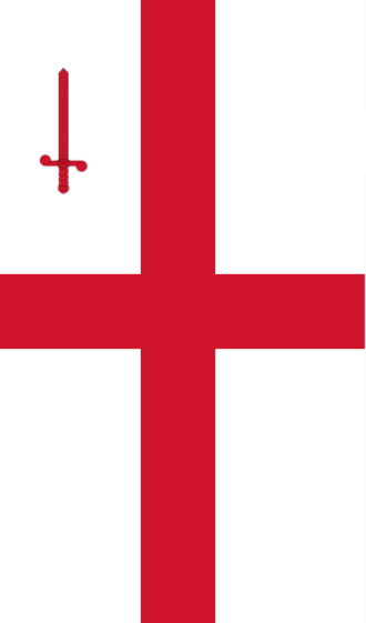 Flag of the City of London - Flag shown when displayed as banner