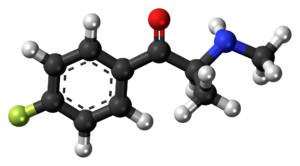 Flephedrone - Image: Flephedrone molecule ball