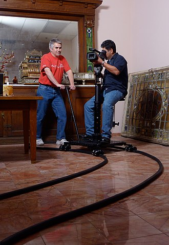 Camera dolly - Image: Flextrak spiderdolly