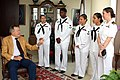 Flickr - Official U.S. Navy Imagery - Former President George H.W. Bush greets Sailors..jpg