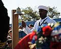 Flickr - Official U.S. Navy Imagery - Sailor rings a ceremonial bell during the Construction Battalion Center Gulfport, 9-11 Remembrance Ceremony.jpg