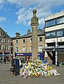 Flowers at the Market Cross, Huddersfield (6847809858).jpg