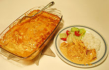 Flying Jacob, casserole dish, image from Wikipedia