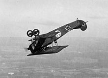 Fokker D.VII fighter flying a looping c1919.JPG