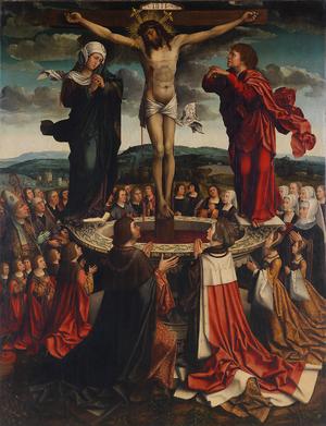 Manuel I of Portugal - The Family of King D. Manuel I at the Fons Vitae; Colijn de Coter, 1518.