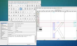 FontForge - Image: Font Forge as of September 12th, 2014