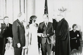 Carla Anderson Hills - Hills being sworn in as Secretary of Housing and Urban Development in 1975