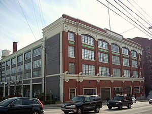 Poncey–Highland - Front and side view of the Ford Assembly Plant from Ponce de Leon Avenue
