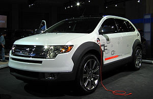 Ford Edge hydrogen fuel cell-electric plug-in ...