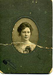 Formal portrait of elsie ada hennessy great grandmother of andrew parodi lec