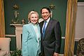 Former White House Aide, Franklin Urteaga, and Hillary Clinton.jpg