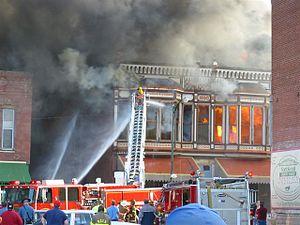 Fort Scott, Kansas - Downtown Fort Scott fire (2005)