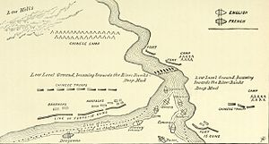 Battle of Taku Forts (1858) - Image: Forts on River Peiho