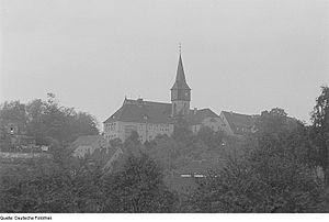 Kohren-Sahlis - The St. Gangulphus Church in 1952