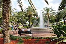 Fountain Walk In Downtown Winter Haven Florida