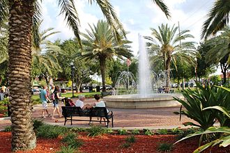 Winter Haven, Florida - Fountain Walk in Downtown Winter Haven, Florida