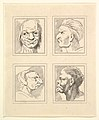 Four Heads (from Characaturas by Leonardo da Vinci, from Drawings by Wincelslaus Hollar, out of the Portland Museum) MET DP824113.jpg