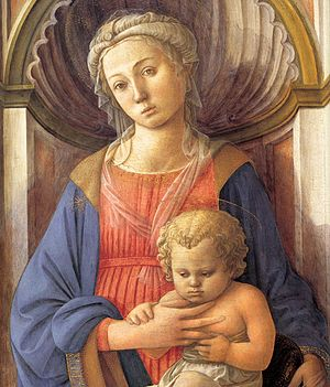 Madonna and Child (Lippi) - Fra Filippo's National Gallery Madonna and Child, c. 1440, one of the artist's earlier Madonnas.