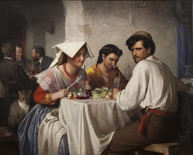Dans une ostéria romaine (1866), de Carl Heinrich Bloch.