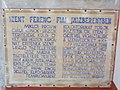 Franciscan church. Listed ID 5916. Corridor. Wall painting, text about Franciscans in Jászberény. - Jászberény, Jász-Nagykun-Szolnok County.JPG