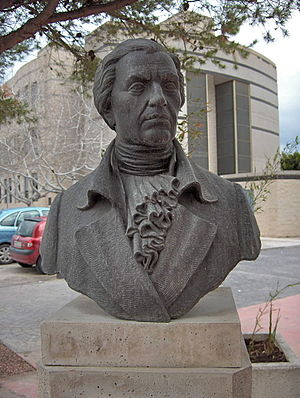 Francisco Javier de Balmis - Bust of Francisco Javier Balmis at the Universidad Miguel Hernández in San Juan de Alicante, (Spain)