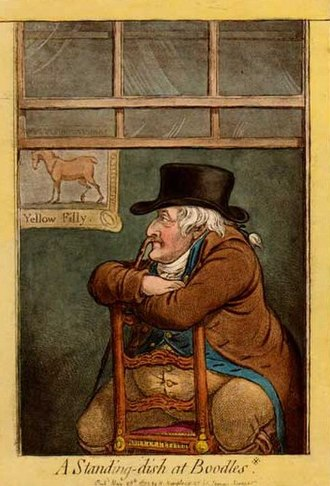 Paris (horse) - Sir Frank Standish bred Paris but sold him just before his Classic win. Caricature by James Gillray.