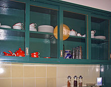 the cupboard of the surviving and refurbished kitchen in the house im burgfeld 136