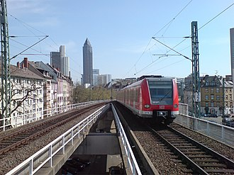 Rhine-Main S-Bahn - A train departing from Frankfurt Westbahnhof