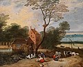 Frans de Momper – River landscape with a farmstead and peasant figures.jpg