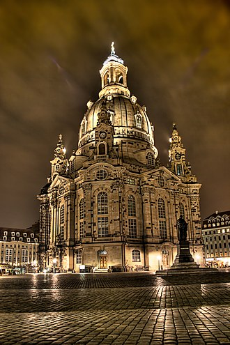 Dresden Frauenkirche - Frauenkirche at night