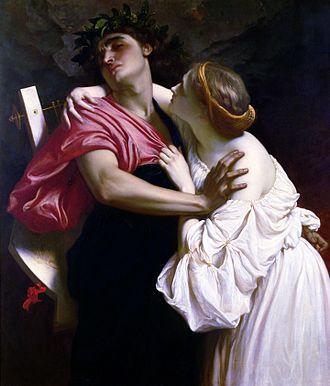 Orpheus and Eurydice - Image: Frederic Leighton Orfeo ed Euridice 1864