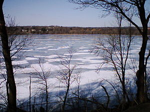 Fresh Pond (Cambridge, Massachusetts) - The pond in winter