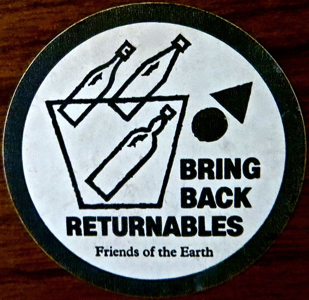 File:Friends of the Earth Bring back Returnables sticker.jpg