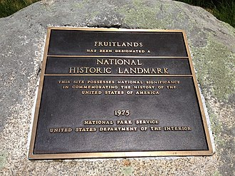 Fruitlands (transcendental center) - Historical marker at the former site of Fruitlands