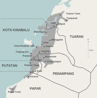 Greater Kota Kinabalu - Image: GKK map