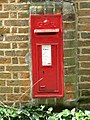 GR postbox set into wall of Bure River Cottage - geograph.org.uk - 539664.jpg