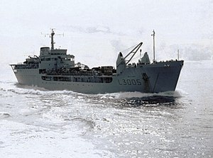RFA Sir Galahad in May 1982