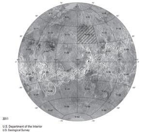 Ganis Chasma - Location of the Ganiki Planitia Quadrangle