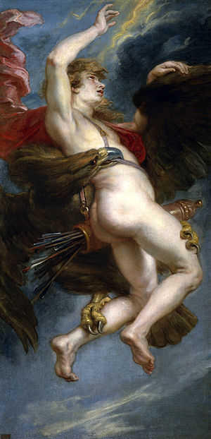 Ancient Greek eros - The Rape of Ganymede, by Rubens