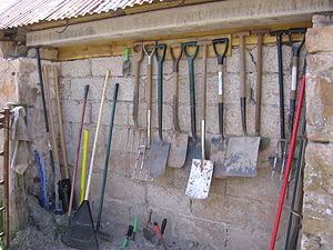 Garden tool - A collection of various garden tools.