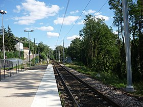 La gare de La Tour-de-Salvagny, en direction Lyon.