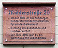 Gedenktafel Mühlenstr 20 (Quedlinburg) Mühlenstraße 20.jpg