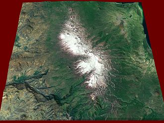 Gegham mountains - Gegham from space