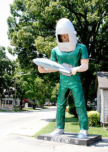 The Gemini Giant in Wilmington, Illinois U.S. Route 66.